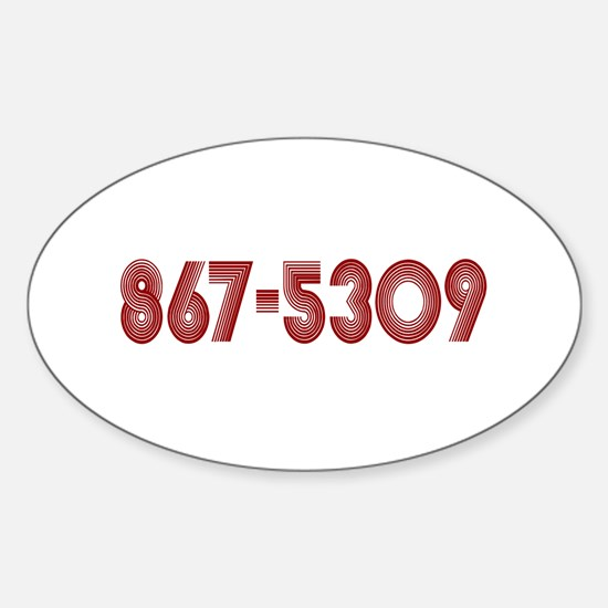867-5309 Oval Decal