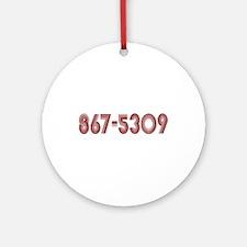 867-5309 Ornament (Round)