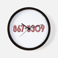 867-5309 Wall Clock