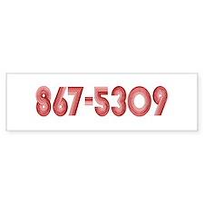 867-5309 Bumper Bumper Sticker