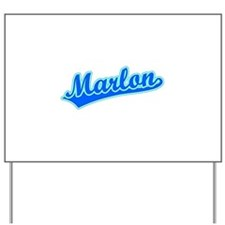 Retro Marlon (Blue) Yard Sign