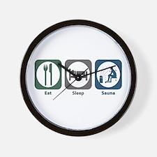 Eat Sleep Sauna Wall Clock