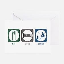 Eat Sleep Sauna Greeting Card