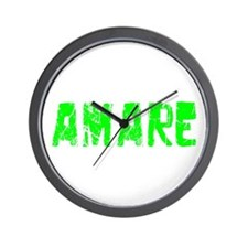Amare Faded (Green) Wall Clock