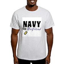 Navy Girlfriend Tags T-Shirt