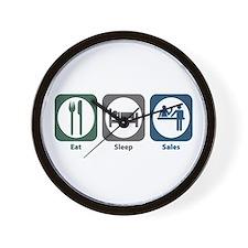 Eat Sleep Sales Wall Clock
