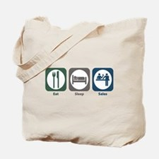Eat Sleep Sales Tote Bag