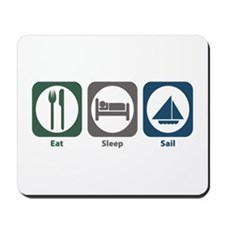 Eat Sleep Sail Mousepad