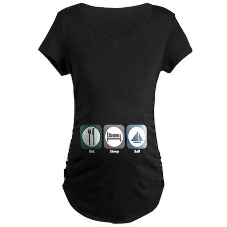 Eat Sleep Sail Maternity Dark T-Shirt