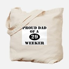 Proud Dad 29 Weeker Tote Bag