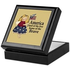 Patriotic Angel Keepsake Box