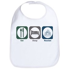 Eat Sleep Russian Bib