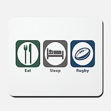 Eat Sleep Rugby Mousepad