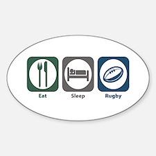 Eat Sleep Rugby Oval Decal