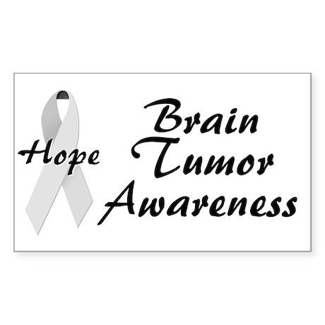 Brain Tumor Awareness Rectangle Sticker