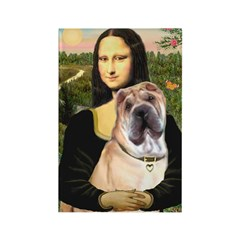 Mona Lisa's Shar Pei (#5) Rectangle Magnet (10 pac