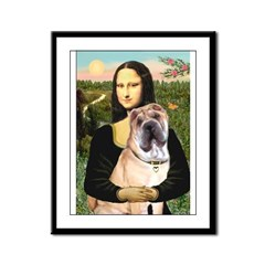 Mona Lisa's Shar Pei (#5) Framed Panel Print