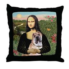 Mona Lisa's Shar Pei (#5) Throw Pillow
