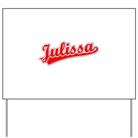 Retro Julissa (Red) Yard Sign