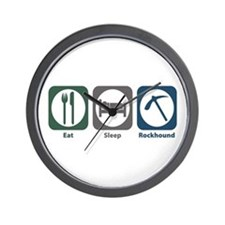 Eat Sleep Rockhound Wall Clock