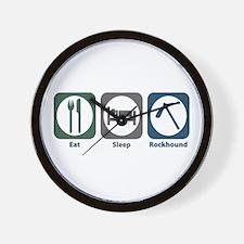Eat Sleep Rockhound Wall Clock