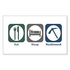 Eat Sleep Rockhound Rectangle Decal