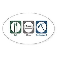 Eat Sleep Rockhound Oval Decal