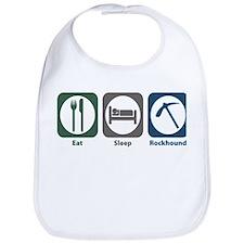 Eat Sleep Rockhound Bib