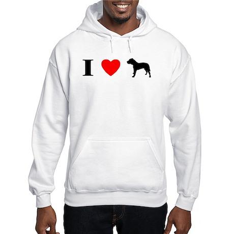 I Heart Canary Dog Hooded Sweatshirt