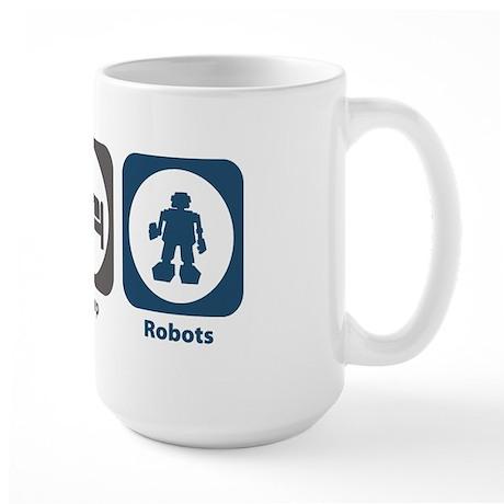 Eat Sleep Robots Large Mug