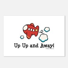 Up Up and Away Airplane Postcards (Package of 8)