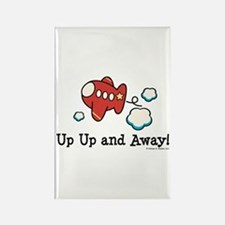 Up Up and Away Airplane Rectangle Magnet