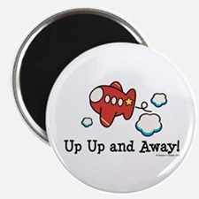 Up Up and Away Airplane Magnet
