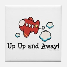 Up Up and Away Airplane Tile Coaster