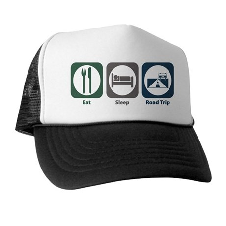 Eat Sleep Road Trip Trucker Hat