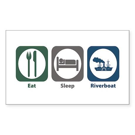 Eat Sleep Riverboat Rectangle Sticker