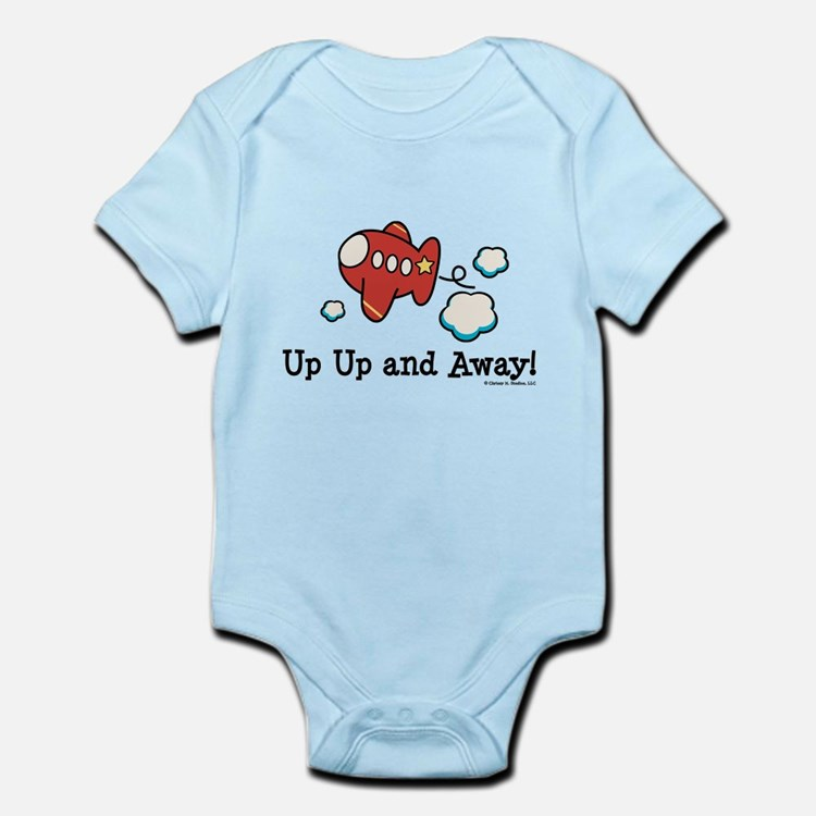 Up Up and Away Airplane Infant Bodysuit