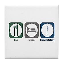 Eat Sleep Rheumatology Tile Coaster