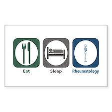Eat Sleep Rheumatology Rectangle Decal