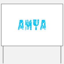 Amya Faded (Blue) Yard Sign
