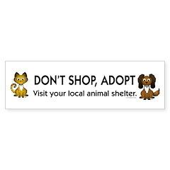 Don't Shop, Adopt Bumper Sticker (50 pk)