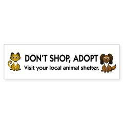 Don't Shop, Adopt Bumper Sticker (10 pk)