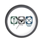 Eat Sleep Restaurant Supply Wall Clock
