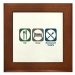 Eat Sleep Restaurant Supply Framed Tile