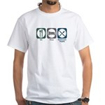 Eat Sleep Restaurant Supply White T-Shirt