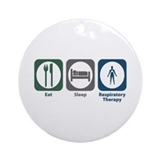 Eat Sleep Respiratory Therapy Ornament (Round)