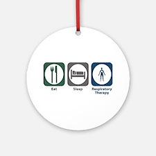 Eat Sleep Respiratory Therapy Ornament (Round)