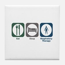 Eat Sleep Respiratory Therapy Tile Coaster