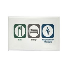 Eat Sleep Respiratory Therapy Rectangle Magnet