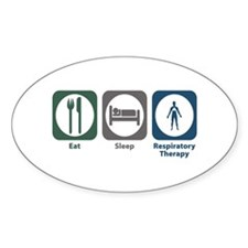 Eat Sleep Respiratory Therapy Oval Decal